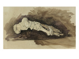 The Bones of a Female Human's Foot (Pencil with W/C and Bodycolour on Paper) Giclee Print by John Ruskin