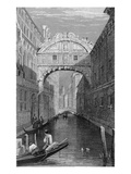 The Bridge of Signs, Venice, Engraved by Robert Wallis, 1829 (Engraving) Giclee Print by Samuel Prout