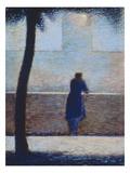 Man Leaning on a Parapet Premium giclée print van Georges Seurat