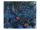 Waterlilies with Reflections of a Willow Tree, 1916-19 Giclee Print by Claude Monet