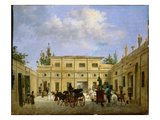 Carriages in the Courtyard of the Chateau De Neuilly Giclee Print by Jacques Francois Joseph Swebach