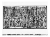 Life of Christ, Marriage at Cana, Preparatory Study of Tapestry Cartoon Giclee Print by Henri Lerambert