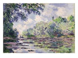 The Seine at Giverny, 1885 Impressão giclée por Claude Monet
