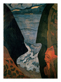Cliffs Near Camaret (Oil on Canvas) Giclee Print by Georges Lacombe