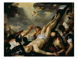 The Crucifixion of Saint Peter, C.1660 (Oil on Canvas) Giclee Print by Luca Giordano