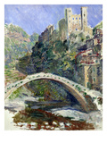 The Castle of Dolceacqua, 1884 Giclee Print by Claude Monet