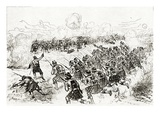 The Black Watch Charging the Intrenchments at the Battle of Tel El-Kebir Giclee Print by Melton Prior