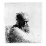 Head of an Old Man, 1631 (Etching) Giclee Print by  Rembrandt van Rijn