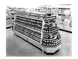 Jam and Marmalade Aisle, Woolworths Store, 1956 (B/W Photo) Giclee Print by  English Photographer