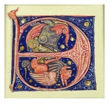 Two Winged Grotesques (Vellum) Giclee Print by  French