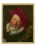 Portrait of a Buffoon (Oil on Canvas) Giclée-Druck von Frans Hals