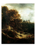 Castle at Bentheim, 1651 Premium Giclee Print by Jacob Isaaksz. Or Isaacksz. Van Ruisdael