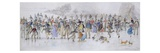 Skating Scene (Pen and Ink and W/C on Paper) Giclee Print by Charles Altamont Doyle