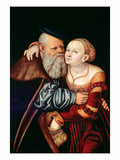 The Old Lover Giclee Print by Lucas Cranach the Elder