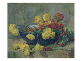 Jonquils and Wallflowers Giclee Print by Ernest Quost
