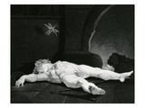 Puck Basking Asleep before the Country Hearth, Engraved by Moses Haughton Jr. (Engraving) Giclee Print by Henry Fuseli