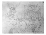Detail of an Egyptian Frieze, 1824-1832 (Pencil on Paper) Giclee Print by Frederick Catherwood