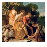 Diana and Her Companions, c.1655-56 Giclee Print by Jan Vermeer