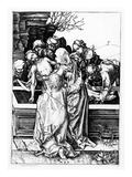 The Entombment, C.1475 (Engraving) Giclee Print by Martin Schongauer
