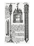 Advertisment for Barometers Made by John Patrick, C.1705-1715 (Engraving) Giclee Print by  English