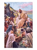 The Sermon on the Mount Premium Giclee Print by Harold Copping