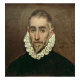 Portrait of an Unknown Gentleman, c.1594 Lámina giclée por  El Greco