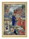 Visitation, from a Book of Hours (Vellum) Giclee Print by  Master of the Prayerbook