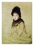 Kathleen Newton, 1877 (Oil on Canvas) Giclee Print by James Jacques Joseph Tissot