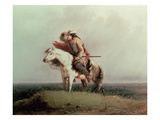 The Lost Greenhorn, 1851 (Oil on Canvas) Giclee Print by Alfred Jacob Miller