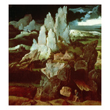 St. Jerome in a Rocky Landscape, C.1515-24 (Oil on Panel) Giclee Print by Joachim Patenier or Patinir