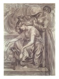 Desdemona's Death Song (Pencil on Paper) Giclee Print by Dante Gabriel Rossetti