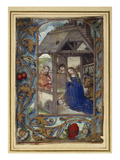Nativity, from a Book of Hours (Vellum) Giclee Print by  Master of the Prayerbook