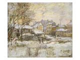 Snow Effect with Setting Sun, 1875 Premium Giclee Print by Claude Monet
