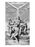 Pieta, Engraved by Giulio Bonasone, 1556 (Engraving) Giclee Print by  Michelangelo Buonarroti