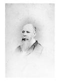 Charles Darwin (B/W Photo) Giclee Print by  Hills & Saunders
