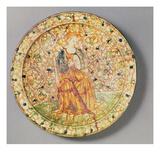 Tambourine Player Plate (Majolica) Giclee Print by  Italian