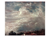 Cloud Study, Horizon of Trees Giclee Print by John Constable