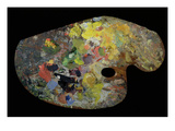 Monet's Palette (Wood) Giclee Print by  French