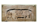 Lintel 3 from Piedras Negras, Peten, Guatemala, Late Classic Period (600-900 Ad) (Stone) Giclee Print by  Mayan
