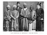 The Emperor of Abyssinia and His Suite', the Dreadnought Hoax, 7th February 1910 (B/W Photo) Giclee Print by  English Photographer