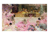 Study for the Roses of Heliogabulus, c.1888 Premium Giclee Print by Sir Lawrence Alma-Tadema