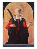 St. Lucy (Oil on Panel) Giclee Print by Francesco del Cossa