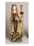 St. Barbara, School of Mechelen, C.1500 (Polychrome and Gilded Oak Wood) Giclee Print by  Flemish