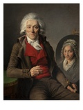 Portrait of a Painter Giclee Print by Pierre Etienne Lesueur