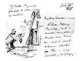 A Letter from Thomas Henry Huxley to Charles Darwin, with a Sketch of Darwin as a Bishop or Saint Giclee Print by Thomas Henry Huxley