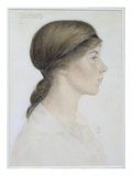 Isabel Margaret Jordan, 1919 (W/C and Pencil on Paper) Giclee Print by Arthur Joseph Gaskin