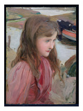 Study of a Young Girl, 1898 (Oil on Board) Giclee Print by Harrington Mann
