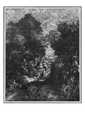 The Good Samaritan, 1861 (Litho) Premium Giclee Print by Rodolphe Bresdin