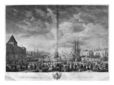 Inner Port of Marseille, Seen from the Pavilion of the Horloge Du Parc Giclee Print by Claude Joseph Vernet