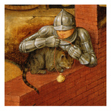 Knight Putting a Bell on a Cat, Detail from 'The Flemish Proverbs' Impression giclée par Pieter Brueghel the Younger
